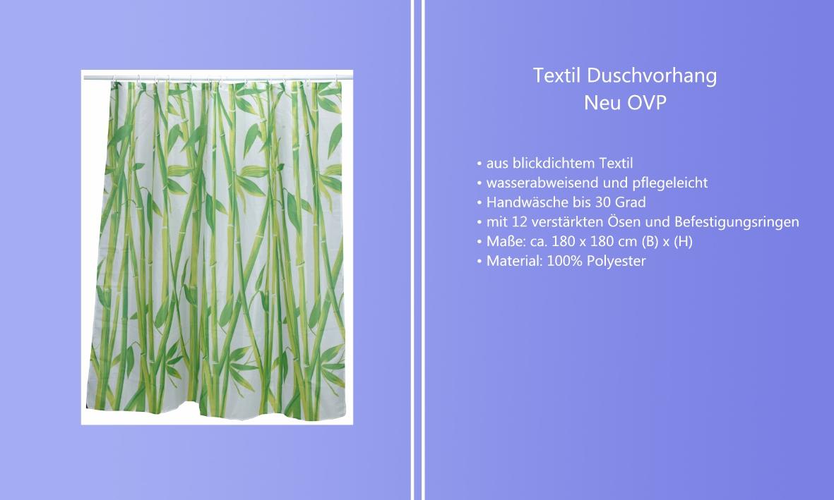 Textil Vorhang Dusche : Details zu Textil Duschvorhang Vorhang f?r Badewanne Wanne Bad Dusche